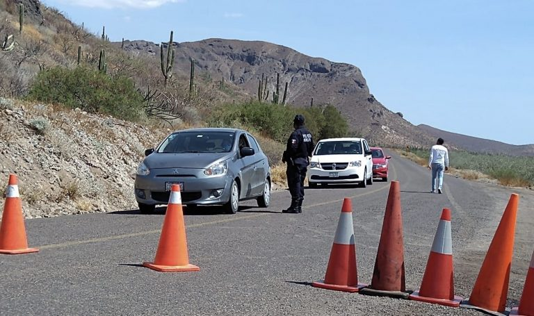 Police keep people away from La Paz, Barriles & Todos Santos beaches